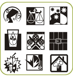 Urban services - Set of icons vector image