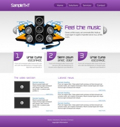 Music website vector
