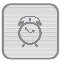 Alarm icon the clock shows the time vector