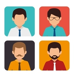 Business people and employee vector