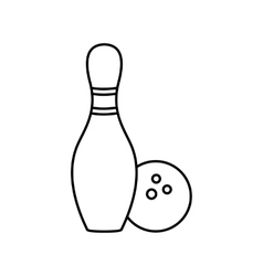 Bowling line icon vector