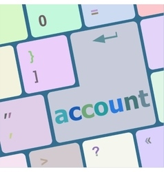 White account enter key vector