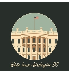 White house washington dc with flag vector
