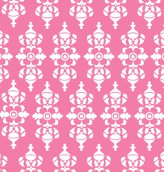Vintage pink wallpaper vector
