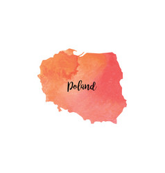 Abstract poland map vector
