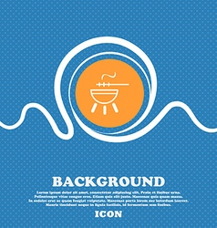 Barbecue icon sign blue and white abstract vector