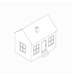 Bungalow icon isometric 3d style vector image