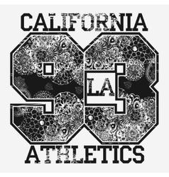 California t-shirt fashion typography vector