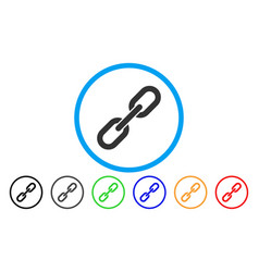 chain link rounded icon vector image vector image