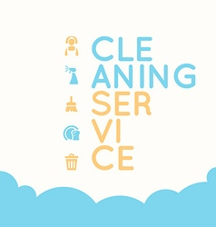 Cleaning service elements vector