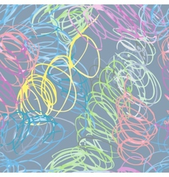 Doodle seamless pencil scribble pattern vector image