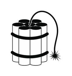 Dynamite sticks black icon vector image
