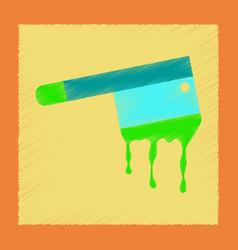 flat shading style icon knife blood vector image