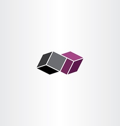 geometric box icon design vector image