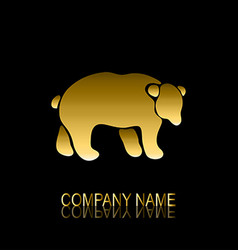 golden bear symbol vector image vector image