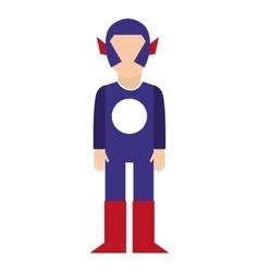 hero character comic isolated icon vector image