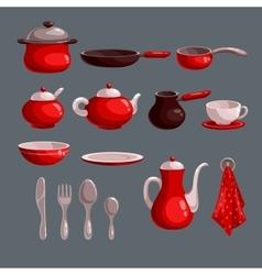 Kitchen utensil set vector