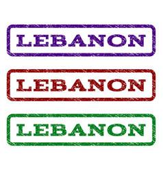 lebanon watermark stamp vector image