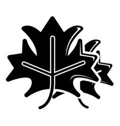 maple icon simple black style vector image