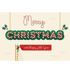 Merry christmas creative greeting card vector