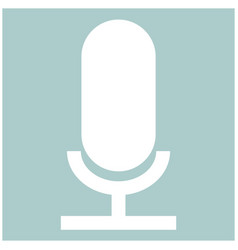 microphone the white color icon vector image vector image