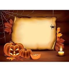 Pumpkin paper halloween vector