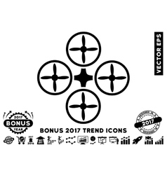 Quadcopter Flat Icon With 2017 Bonus Trend vector image vector image