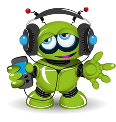 Robot Music Lover vector image