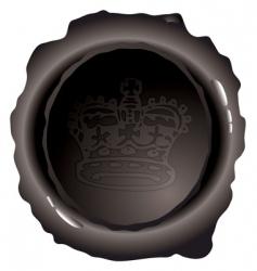 Royal wax seal vector