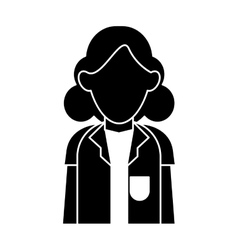 Silhouette doctor woman stethoscope medical vector