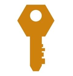 single key icon vector image