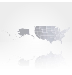 United States of America map background vector image
