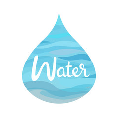 water symbol of the four elements vector image vector image