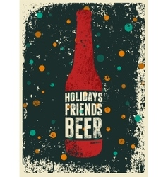 Typographic retro grunge christmas beer poster vector