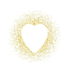 Valentines day greeting card gold sparkles vector