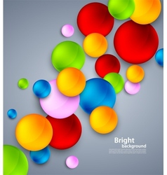 Abstract background with colorful bubbles vector