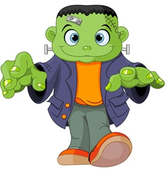 Frankenstein kid vector image