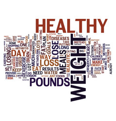 The only way to loss weight is the healthy way vector