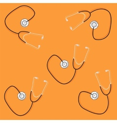 Phonendoscopes on orange background vector