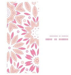 Pink abstract flowers vertical frame seamless vector
