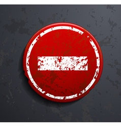 Prohibitory road sign vector