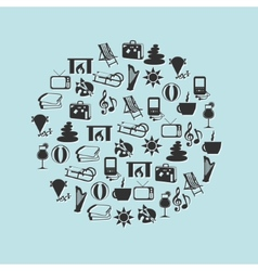 Relax icons in circle vector