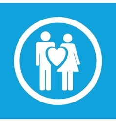 Love couple sign icon vector