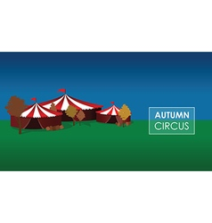 autumn circus vector image