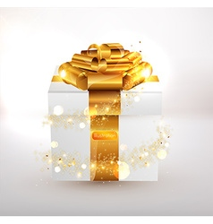 Gold present design vector