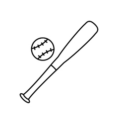 Baseball line icon vector
