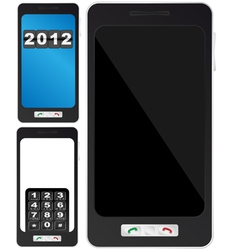 Fictitious mobile phone vector