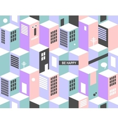 Modern seamless pattern with city buildings vector