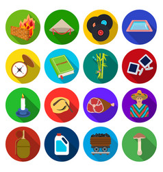 Army history cooking and other web icon in flat vector