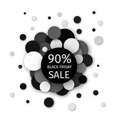 Black friday sale 90 percent discount banner vector